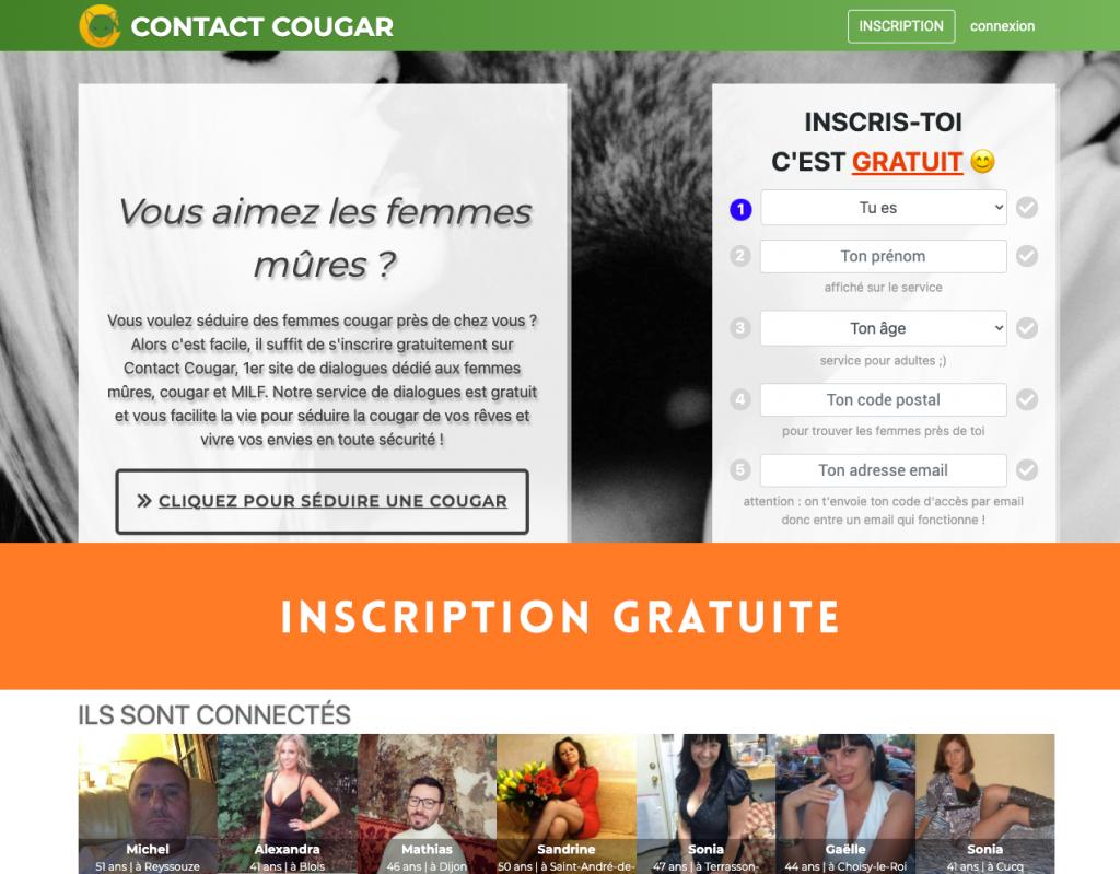 Avis sur le site ContactCougar